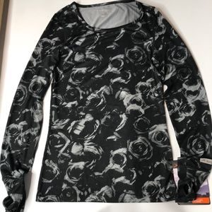 Terramar Women's Long Sleeve Top, With Thumbs Out